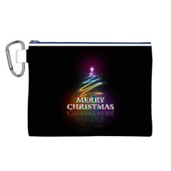 Merry Christmas Abstract Canvas Cosmetic Bag (L)
