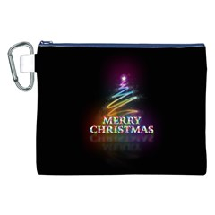 Merry Christmas Abstract Canvas Cosmetic Bag (XXL)