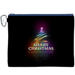 Merry Christmas Abstract Canvas Cosmetic Bag (XXXL)