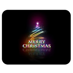 Merry Christmas Abstract Double Sided Flano Blanket (Medium)