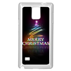 Merry Christmas Abstract Samsung Galaxy Note 4 Case (White)