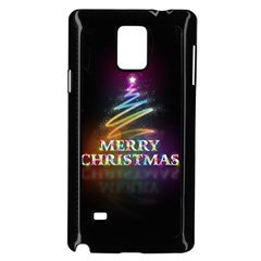 Merry Christmas Abstract Samsung Galaxy Note 4 Case (Black)