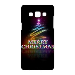 Merry Christmas Abstract Samsung Galaxy A5 Hardshell Case