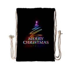 Merry Christmas Abstract Drawstring Bag (Small)