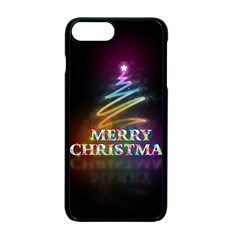 Merry Christmas Abstract Apple iPhone 7 Plus Seamless Case (Black)