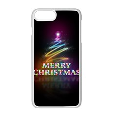 Merry Christmas Abstract Apple iPhone 7 Plus White Seamless Case