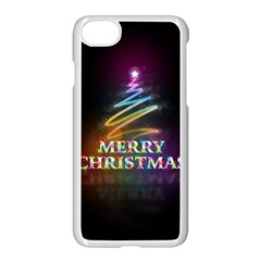 Merry Christmas Abstract Apple iPhone 7 Seamless Case (White)
