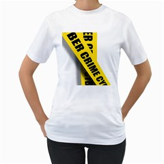 Internet Crime Cyber Criminal Women s T-Shirt (White) (Two Sided)