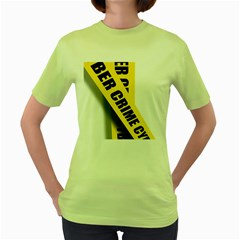 Internet Crime Cyber Criminal Women s Green T-Shirt