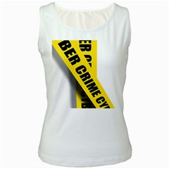 Internet Crime Cyber Criminal Women s White Tank Top