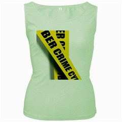 Internet Crime Cyber Criminal Women s Green Tank Top