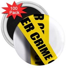 Internet Crime Cyber Criminal 3  Magnets (100 pack)