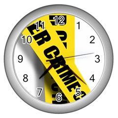 Internet Crime Cyber Criminal Wall Clocks (Silver)