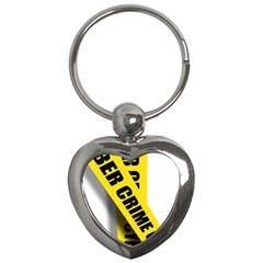 Internet Crime Cyber Criminal Key Chains (Heart)