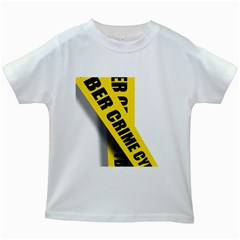 Internet Crime Cyber Criminal Kids White T-Shirts