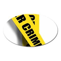Internet Crime Cyber Criminal Oval Magnet
