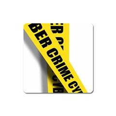 Internet Crime Cyber Criminal Square Magnet