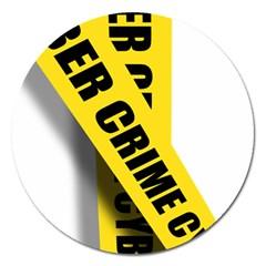 Internet Crime Cyber Criminal Magnet 5  (Round)