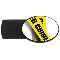 Internet Crime Cyber Criminal USB Flash Drive Oval (1 GB)