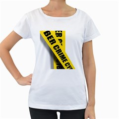 Internet Crime Cyber Criminal Women s Loose-Fit T-Shirt (White)
