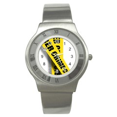 Internet Crime Cyber Criminal Stainless Steel Watch