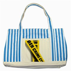 Internet Crime Cyber Criminal Striped Blue Tote Bag