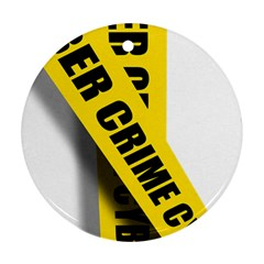 Internet Crime Cyber Criminal Round Ornament (Two Sides)