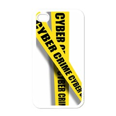 Internet Crime Cyber Criminal Apple iPhone 4 Case (White)