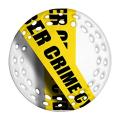 Internet Crime Cyber Criminal Round Filigree Ornament (2Side)
