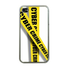 Internet Crime Cyber Criminal Apple iPhone 4 Case (Clear)