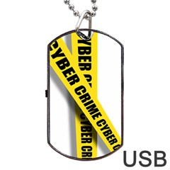 Internet Crime Cyber Criminal Dog Tag USB Flash (Two Sides)