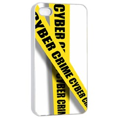 Internet Crime Cyber Criminal Apple iPhone 4/4s Seamless Case (White)