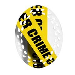 Internet Crime Cyber Criminal Oval Filigree Ornament (2-Side)