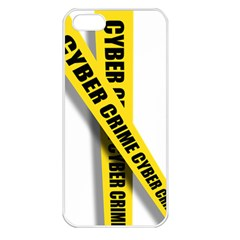 Internet Crime Cyber Criminal Apple iPhone 5 Seamless Case (White)