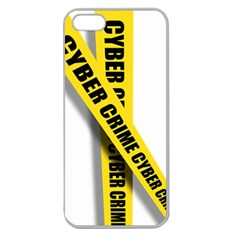 Internet Crime Cyber Criminal Apple Seamless iPhone 5 Case (Clear)