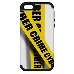 Internet Crime Cyber Criminal Apple iPhone 5 Hardshell Case (PC+Silicone)