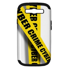 Internet Crime Cyber Criminal Samsung Galaxy S III Hardshell Case (PC+Silicone)