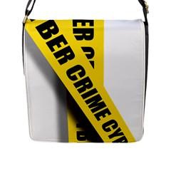 Internet Crime Cyber Criminal Flap Messenger Bag (L)