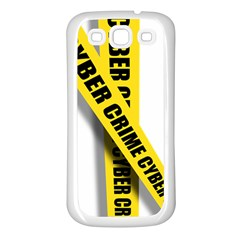 Internet Crime Cyber Criminal Samsung Galaxy S3 Back Case (White)