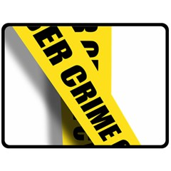 Internet Crime Cyber Criminal Double Sided Fleece Blanket (Large)