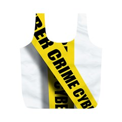 Internet Crime Cyber Criminal Full Print Recycle Bags (M)
