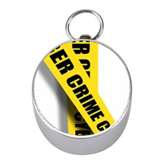 Internet Crime Cyber Criminal Mini Silver Compasses