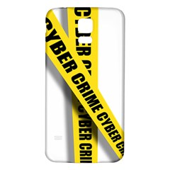 Internet Crime Cyber Criminal Samsung Galaxy S5 Back Case (White)