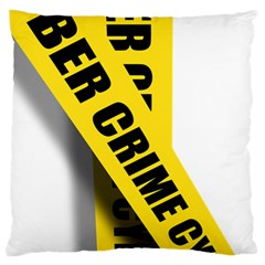 Internet Crime Cyber Criminal Large Flano Cushion Case (Two Sides)