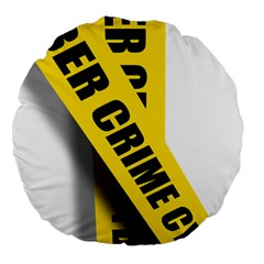 Internet Crime Cyber Criminal Large 18  Premium Flano Round Cushions
