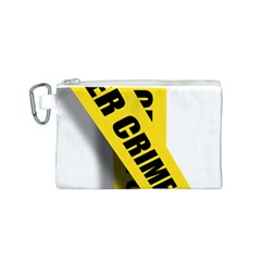 Internet Crime Cyber Criminal Canvas Cosmetic Bag (S)