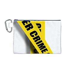 Internet Crime Cyber Criminal Canvas Cosmetic Bag (M)