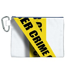 Internet Crime Cyber Criminal Canvas Cosmetic Bag (XL)