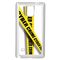 Internet Crime Cyber Criminal Samsung Galaxy Note 4 Case (White)