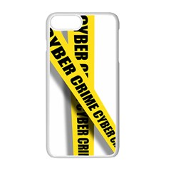 Internet Crime Cyber Criminal Apple iPhone 7 Plus White Seamless Case